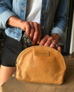 Bilde av Glam Bag - Skinnpung Amber lys brun