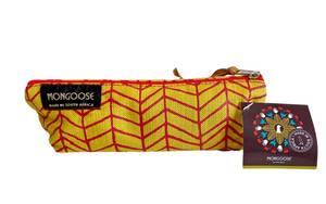 Bilde av Minibag - Fishbone gul / rød
